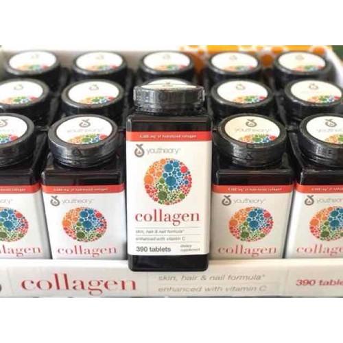 Viên uống youtheory collagen 390 viên collagen type 1 2 3 mẫu mới