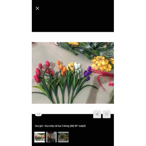 Hoa tulip giả cành 5 bông