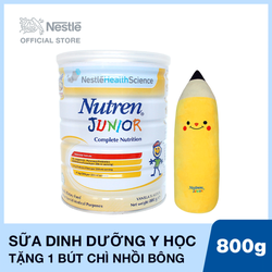 Mua 1 Lon Sản phẩm dinh dưỡng y học Nutren Junior - 800g Tặng 1 gấu bông hình bút chì