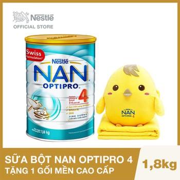 Mua 1 Lon Sữa Bột Nestle NAN Optipro 4 - 1.8kg Tặng 1 bộ gối mền cao cấp