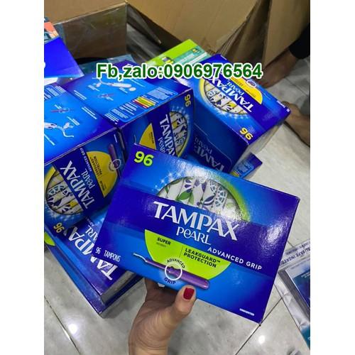Băng vệ sinh dạng ống tampax 96 cái - hàng xách tay siêu thị costco mỹ