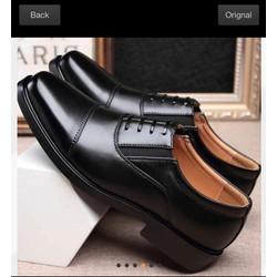 [VD3388] Giày nam da bò nguyên tấm ,đế cao su tăng chiều cao 4cm được khâu chắc chắn . Được kiểm tra hàng