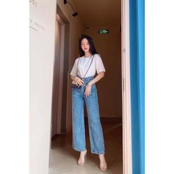 Quần Jeans Ống Suông Thời Trang