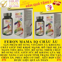 QUÀ TẶNG KÈM SL BỔ SUNG SẮT FERON MAMA IQ, tăng hầu cầu cho bà bầu, thiếu máu ăn ngon , sức đề kháng tốt miễm dịch