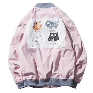 Áo khoác dù chú mèo Hàn Quốc họa tiết dễ thương lót 2 lớp - AD_C106 thumbnail