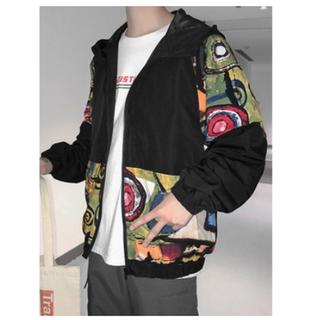 Áo khoác dù phối màu Graffiti nghệ thuật form 75kg - AD_M013 thumbnail