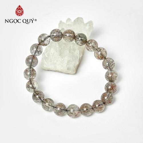 Vòng tay đá thạch anh ưu linh tóc đen 9mm, đường kính 52mm - ngọc qúy gemstones