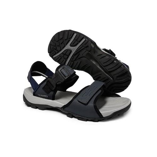 Dép sandal, giày sandal đi học nam nữ 2 quai nỉ trm27