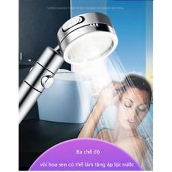 Vòi hoa sen mạ nhựa ABS cao cấp, vòi sen điều áp đa chức năng, 3 chế độ nước, có thể tháo rời