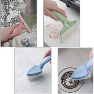 Cây lau kính mini kèm đầu bàn chải vệ sinh chà rửa tiện lợi - SH272 thumbnail