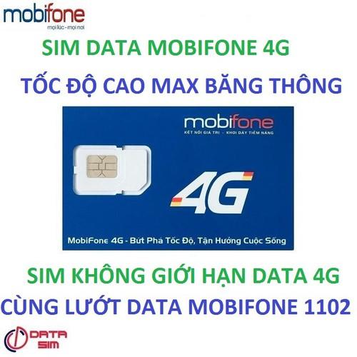 Sim 4g mobifone max dung lượng tốc độ cao tặng ngay tháng đầu