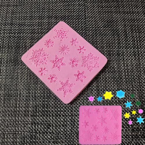 Khuôn silicon fondant bông tuyết 13 mẫu trang trí bánh kem