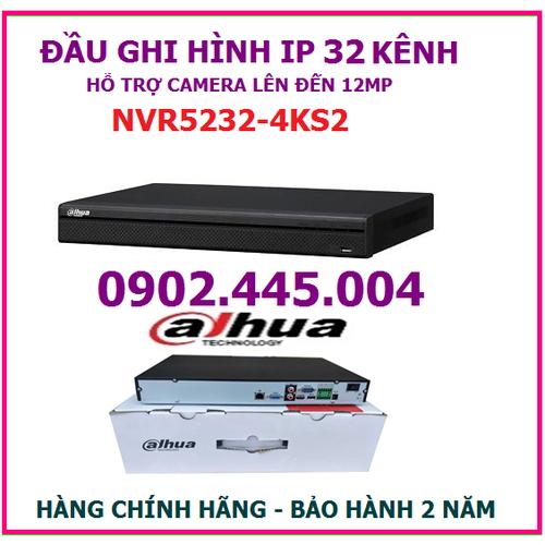 Đầu ghi hình 32 kênh dahua nvr5232-4ks2, hỗ trợ gắn 2 ổ cứng, gắn camera lên đến 12mp - 20065185 , 25271071 , 15_25271071 , 6845000 , Dau-ghi-hinh-32-kenh-dahua-nvr5232-4ks2-ho-tro-gan-2-o-cung-gan-camera-len-den-12mp-15_25271071 , sendo.vn , Đầu ghi hình 32 kênh dahua nvr5232-4ks2, hỗ trợ gắn 2 ổ cứng, gắn camera lên đến 12mp