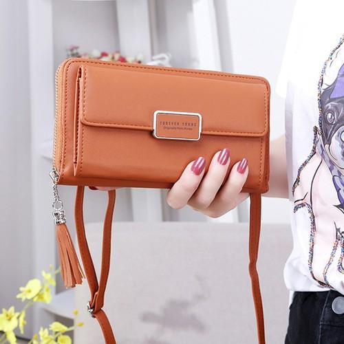 Túi đeo chéo kiêm ví cầm tay nữ be010