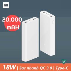 Pin sạc dự phòng Xiaomi gen 3 20000 mAh - Pin dự phòng Xiaomi 20000 mAh