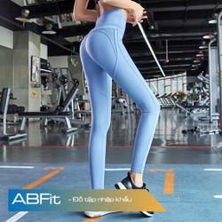Quần tập gym yoga legging thể thao nâng mông cạp cao - Trang phục tập gym