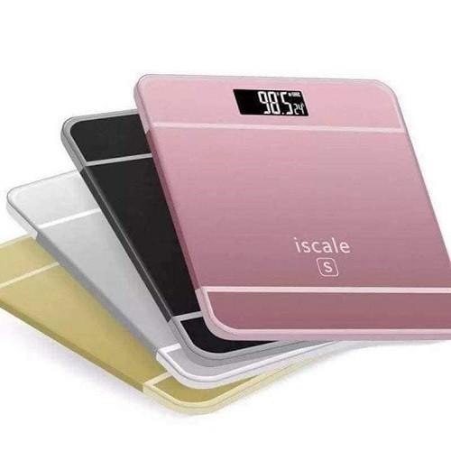 Cân sức khỏe điện tử iscale s tích hợp đo nhiệt độ max 180kg