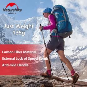 Gậy Dã Ngoại Leo Núi Trekking SỢI CARBON NatureHike NH19S010 Khóa Ngoài Siêu Chắc Chắn - NH19S010
