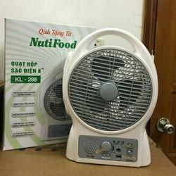 Quạt hộp sạc điện KL 288 Sản phẩm khuyến mãi từ sữa Nutifood