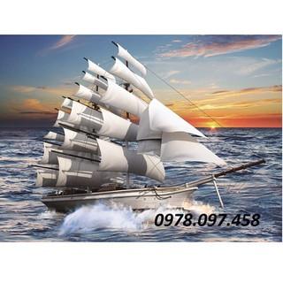 Tranh gạch thuyền buồm - F45 thumbnail