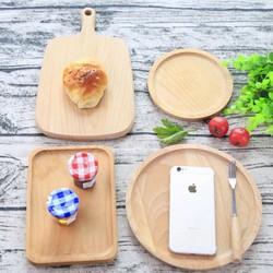Thớt đĩa gỗ làm phụ kiện chụp ảnh sản phẩm
