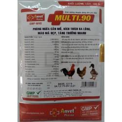 Multi 90 gói 100gr Phòng ngừa gà cắn mổ kích thích ra lông tăng trưởng nhanh