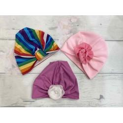 combo 3 mũ turban cho bé