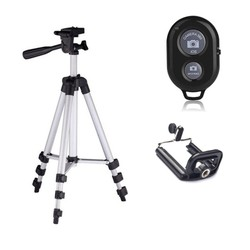 Chân máy chụp hình Tripod 3110 Remote Đầu kẹp điện thoại