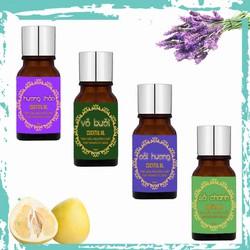 Tinh Dầu 10ml 4 mùi - Tinh Dầu Hoa Oải Hương Lavender, Tinh Dầu Sả Chanh, Tinh Dầu Vỏ Bưởi, Tinh Dầu Hương Thảo