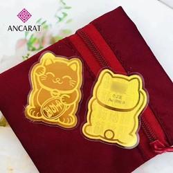 Miếng dán vàng 24K Mèo Chiêu Tài - ANCARAT