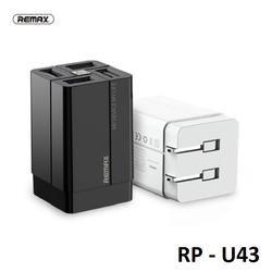 Cốc sạc nhanh đa năng 4 cổng USB max 3.4A Remax Wanfu RP-U43