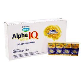 Sữa bột pha sẵn Dielac Alpha Gold - Thùng 48 hộp 110ml. - Dielac Alpha Gold 110ml