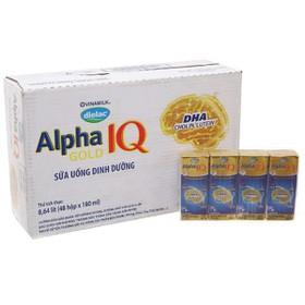 Sữa bột pha sẵn Dielac Alpha Gold vani - Thùng 48 hộp 180ml - Dielac Alpha Gold 180ml