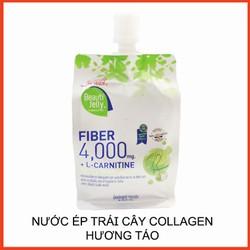 Nước Ép Trái Cây Thạch Collagen - Combo 5 Gói Nước Ép Trái Cây Thạch Collagen Sappe Beauti Jelly HƯƠNG TÁO 150G