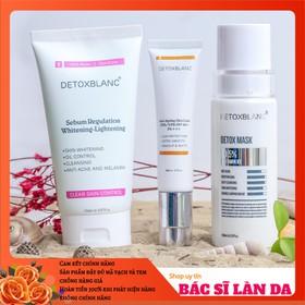Bộ dưỡng trắng dành cho da dầu nhờn Detox Blanc - BDTDADAUNHONDTX