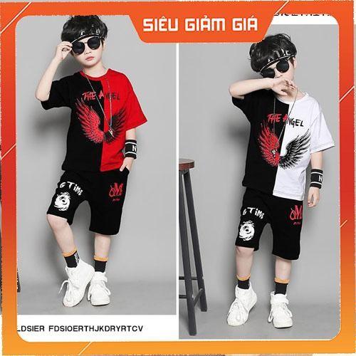 Set bộ quần áo trẻ em dành cho bé trai 6-10 tuổi mẫu CÁNH THIÊN THẦN. Thiết kế đẹp, màu sắc tinh tế
