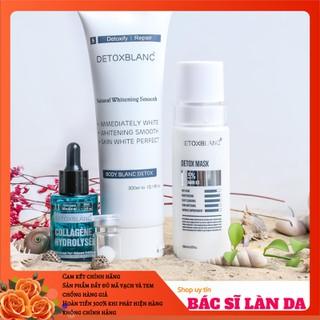 Bộ sản phẩm xóa mụn dưỡng trắng cho Mặt và Body Detox Blanc - BSPXMDTFACEBODY thumbnail