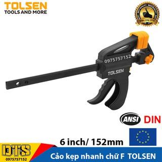 Cảo kẹp nhanh, vam gỗ kẹp nhanh chữ F TOLSEN, độ mở tối đa 6 inch - 152mm - Tiêu chuẩn xuất khẩu Châu Âu - 10201 thumbnail