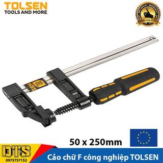 Cảo chữ F công nghiệp cán nhựa 50 x 250mm TOLSEN - Tiêu chuẩn xuất khẩu Châu Âu - Vam kẹp gỗ chữ F - 10163 thumbnail