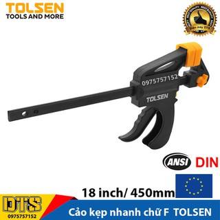 Cảo kẹp nhanh, vam gỗ kẹp nhanh chữ F TOLSEN, độ mở tối đa 18 inch - 450mm - Tiêu chuẩn xuất khẩu Châu Âu - 10206 thumbnail