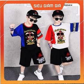 [ H05 ] Set bộ quần áo trẻ em mẫu HEO dành cho bé trai 18-28kg. Chất vải đẹp, hình in sắc nét - [ H05 ] set bộ HEO