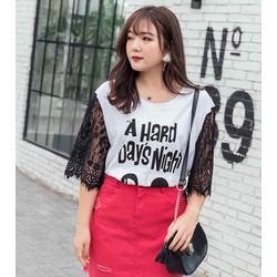áo thun big size tay phối ren bao đẹp size 74-85kg