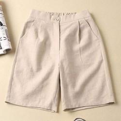 Quần short nữ đẹp, quần đùi sooc chất đũi nhật có big size cho người đến 100Kg_Xem hàng trước khi thanh toán