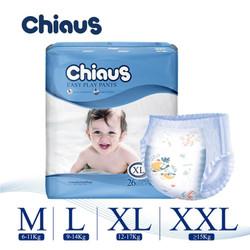 Combo 2 tã quần Chiaus Easy Play Pants cùng size L30 - XL26