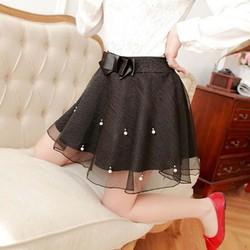 Chân váy lưới xòe đính hạt Mã: VN854