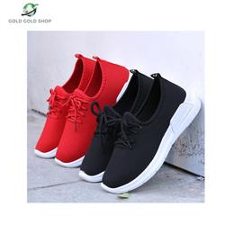 [FREESHIP 10] Giày nam nữ  sneaker đen đỏ trơn dây buộc hàng hót 2020