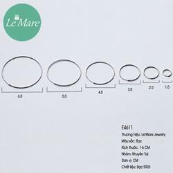 Khuyên tai bạc tròn thời trang Le'mare Jewelry E4611 - chất nhất năm 2020 - kiểm hàng trước khi thanh toán - hàng chuẩn không cần chỉnh