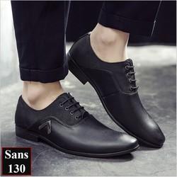 Giày Tây Nam Oxford Vải Da Đủ Màu Đen Nâu Vàng Sans Shop Sans130 - Chất nhất 2020