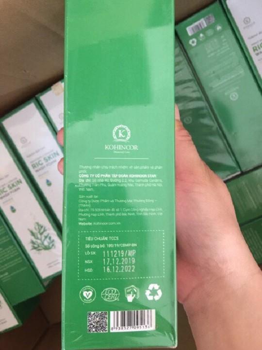 Sữa rửa mặt Ric Skin Wash Foam Chiết Xuất Nano Vàng , Tảo biển Nhật Bản , đầu chổi silicon chuyên dụng 100g