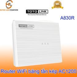 Router WiFi ToTolink A830R băng tần kép AC1200 thiết kế để bàn - DGW phân phối